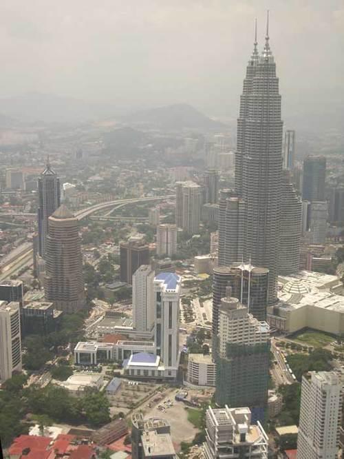 Kuala Lampur, vue de haut